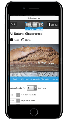 View your recipes on your mobile