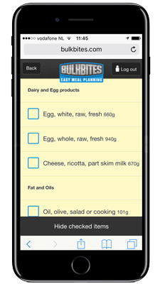 Go mobile and have your bodybuilding meal plan at hand, everywhere.